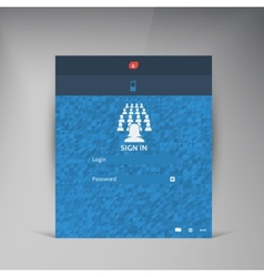 Flat ui design trend interface vector
