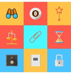 Flat icons for organization of outsourced vector