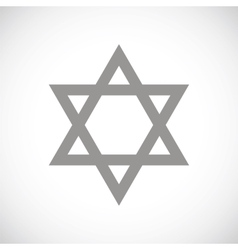 Judaism black icon vector