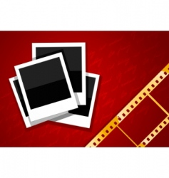 Film and camera background vector