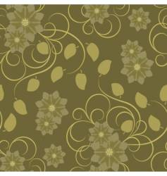 Seamless pattern with brown flowers vector