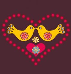 Lovebirds vector