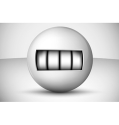 Ball with numbers counter vector