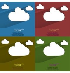 Color set cloud download application web icon flat vector