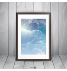 Photo frame on the wall vector