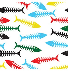 Fishbone background vector