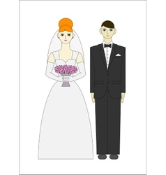 Bride ang groom wedding couple vector