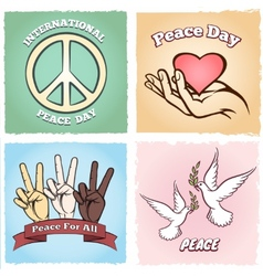 Day of peace posters vector