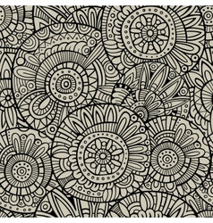 Decorative doodles seamless pattern vector