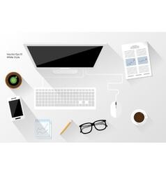 White workspace vector