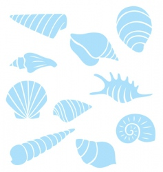 Sea shell collection vector