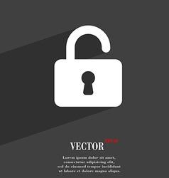 Open padlock icon symbol flat modern web design vector