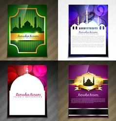 Attractive set of brochure of eid festival vector