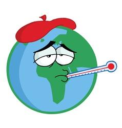 Sick planet earth vector
