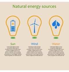 Natural energy sources vector