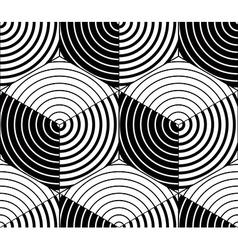Endless monochrome symmetric pattern graphic vector
