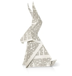 Rabbit paper origami toy vector