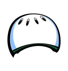 A helmet vector