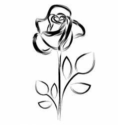 Silhouette of a rose vector