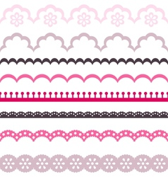 Old lace ribbons abstract ornament texture vector