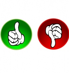 Thumbs up and down buttons vector