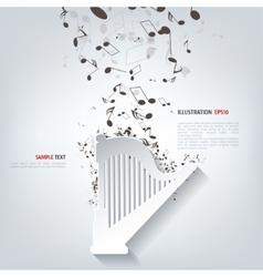 Harp icon music instruments vector
