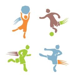 Active boys fitness sports set 2 vector
