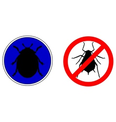 Aphid ladybird traffic signs vector
