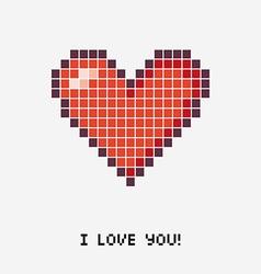 Pixel heart concept vector