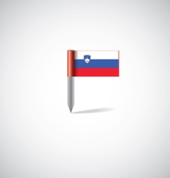 Slovenia flag pin vector