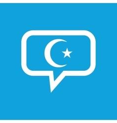 Turkey symbol message icon vector