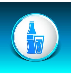 Soda bottle design concept logo sign line vector