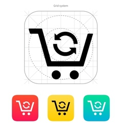 Exchange of product icon vector