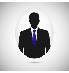 Male person silhouette profile picture whith blue vector
