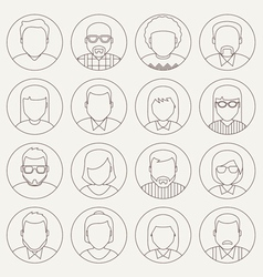 Line avatars vector