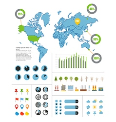 Infographics earth map vector