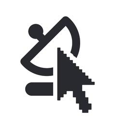 Web antenna icon vector