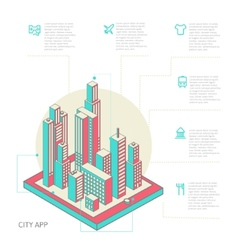 Infographic made of colorful buildings vector