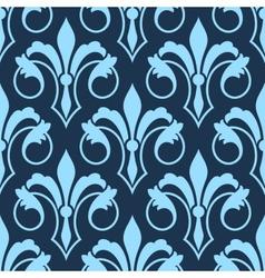 Stylized scrolling seamless fleur de lys pattern vector