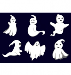 Mystery ghosts vector