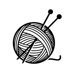 Yarn and needles vector