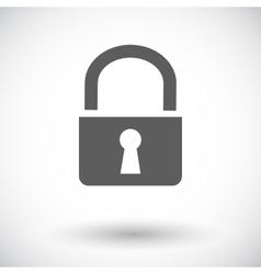 Lock single icon vector