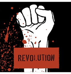 Revolution poster fist symbol vector
