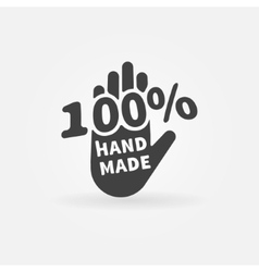 Hand made label or icon vector