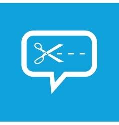 Cut message icon vector