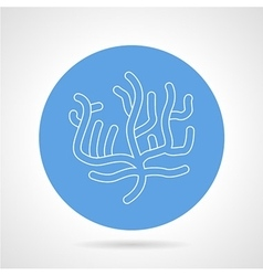 Round blue icon for coral vector