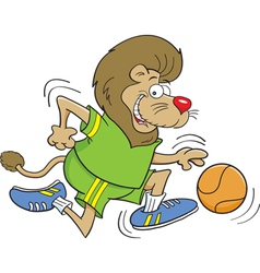Cartoon basketball lion vector