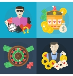 Casino or poker flat vector