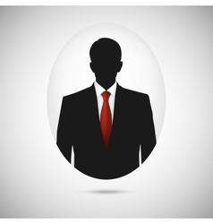Male person silhouette profile picture whith red vector
