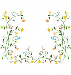 Floral flower ornament vector